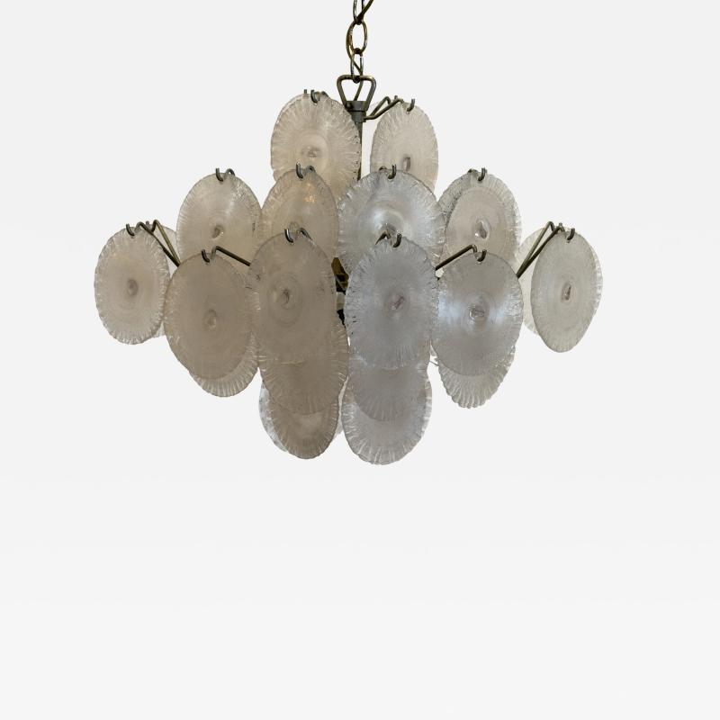 Carlo Nason Italian Modern opalescent glass chandelier