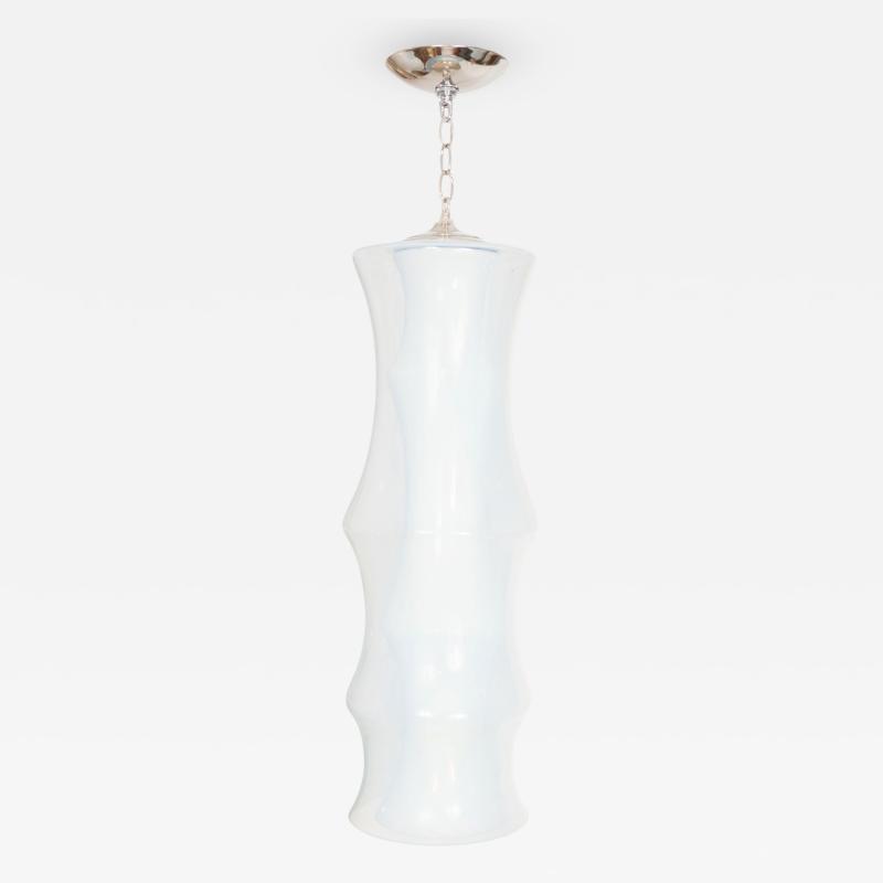Carlo Nason Unusual Lattimo Glass Pendant for Mazzega