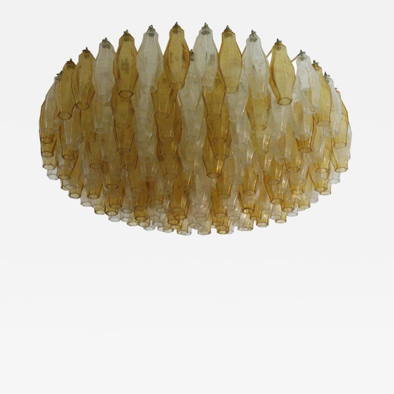 Carlo Scarpa Carlo Scarpa Mid Century Poliedri Murano Glass Pendant Lamp Italy 1960s