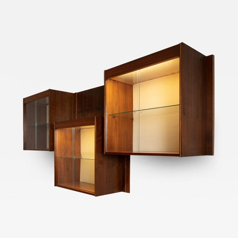 Carlo Scarpa Set of Three Wall Cabinets