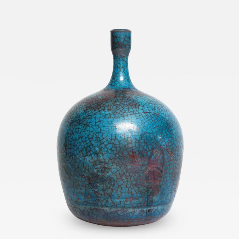 Carlo Zauli Studio Built Ceramic Bottle by Carlo Zauli