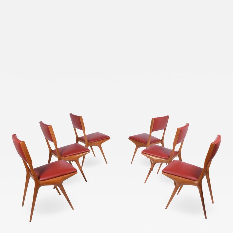 Carlo de Carli Carlo De Carli set of six side chairs