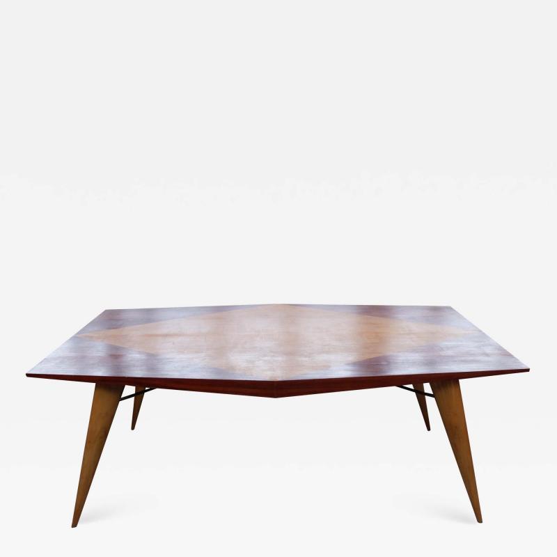 Carlo de Carli Carlo de Carli for Tecno Rare Mid Century Wooden Table 1950s