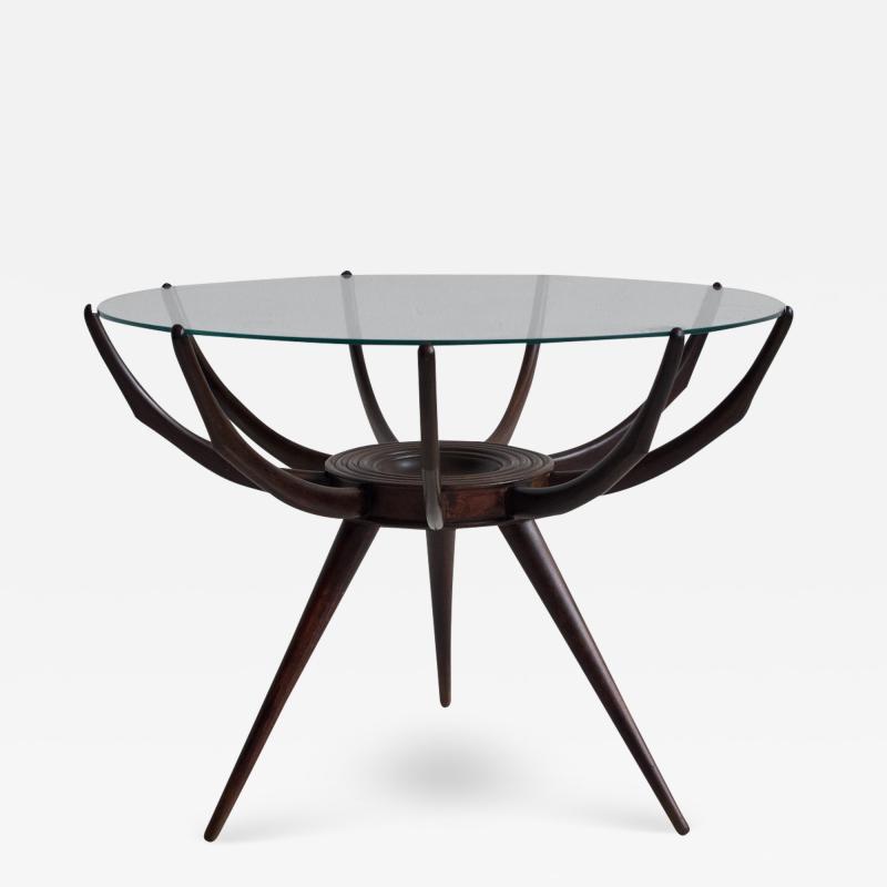 Carlo de Carli Wooden Spider Leg Coffee Table by Carlo de Carli