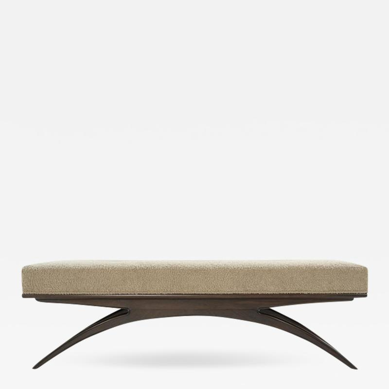 Carlos Solano Granda Convex Bench in Natural Boucl by Stamford Modern