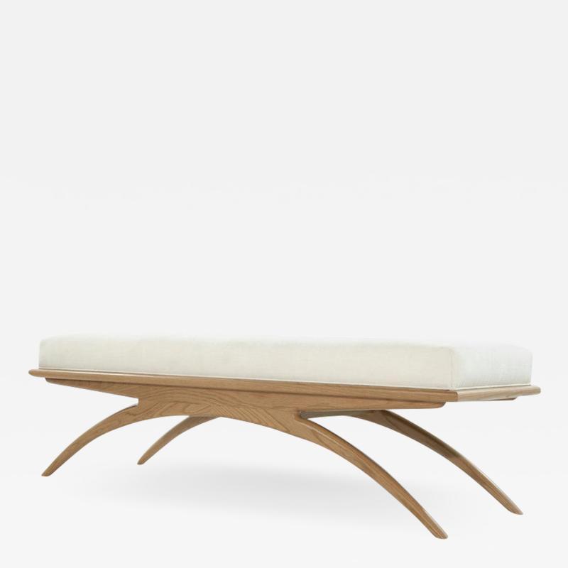 Carlos Solano Granda Natural Oak Convex Bench by Stamford Modern