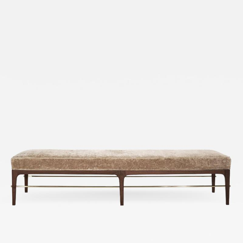Carlos Solano Granda Natural Walnut Linear Bench by Stamford Modern