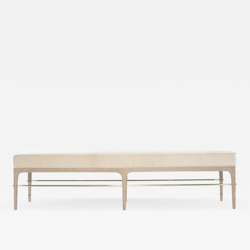 Carlos Solano Granda Stamford Moderns Linear Bench in Limed Oak