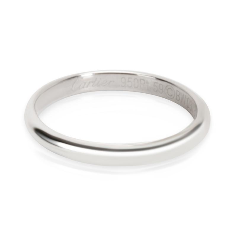 Cartier 2 5 mm Men s Wedding Band in Platinum