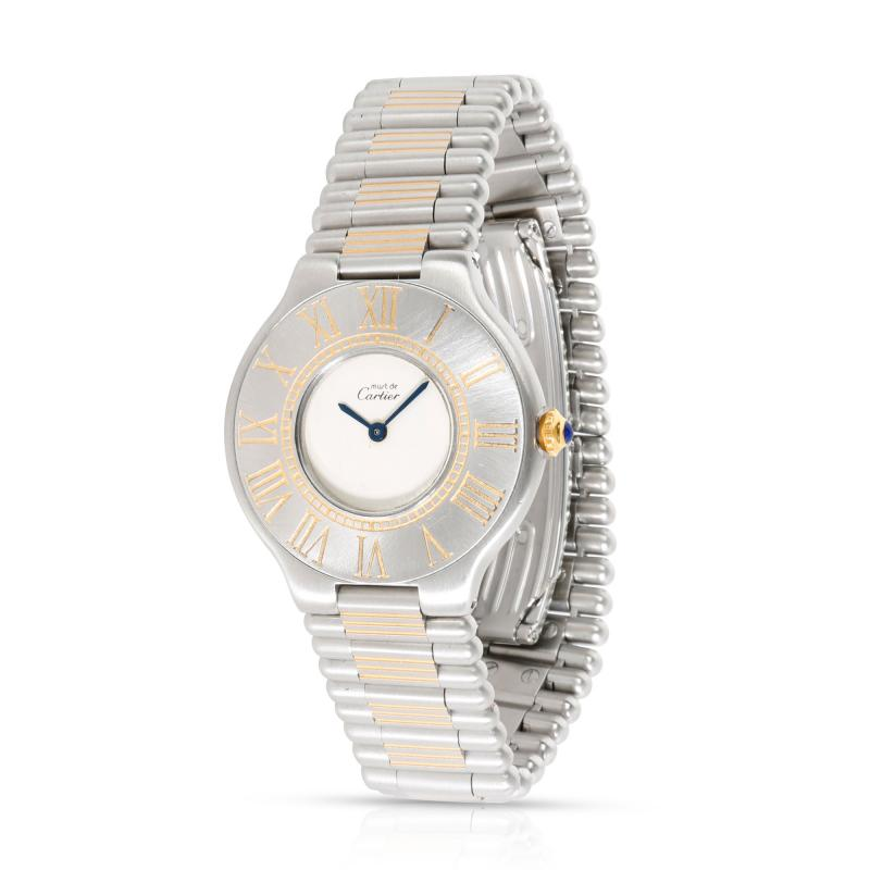 Cartier 21 21 Unisex Watch in Stainless Steel Gold Plate