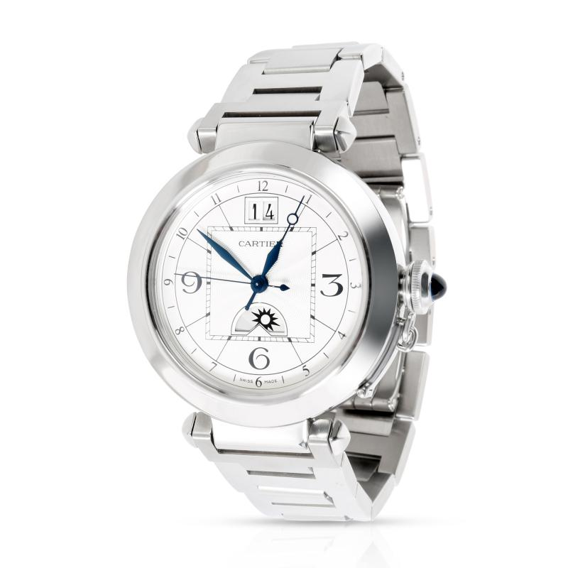 Cartier Pash GMT W31093M7 Men s Watch in Stainless Steel