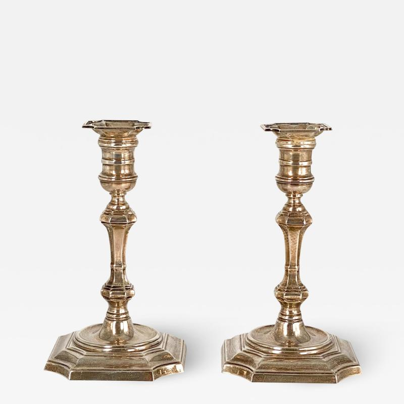 Cartier Sterling Candlesticks A Pair