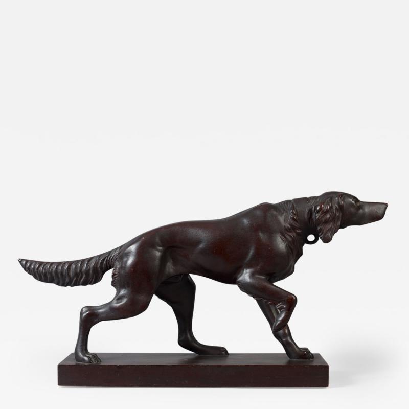 Carved Figure of a Setter Pointing