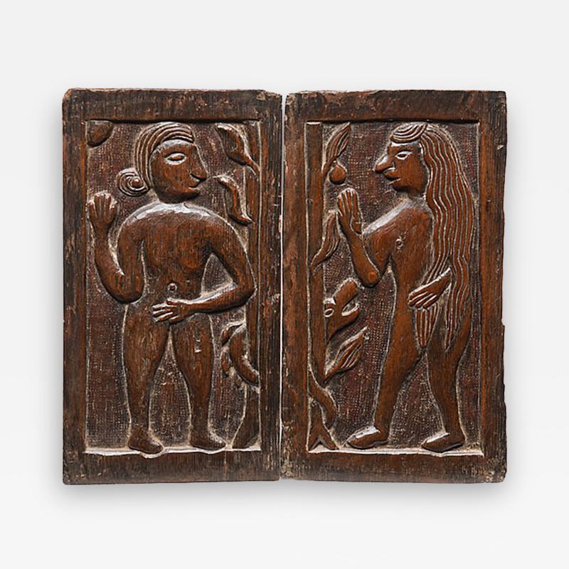 Carved Panels Adam Eve