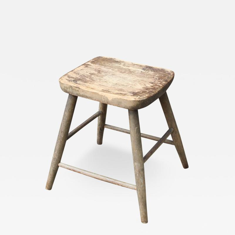 Carved and Turned Windsor Stool