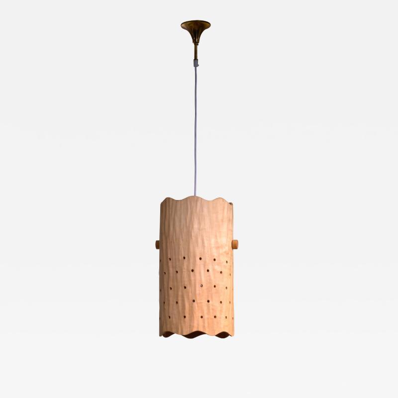 Carved birch pendant lamp Finland