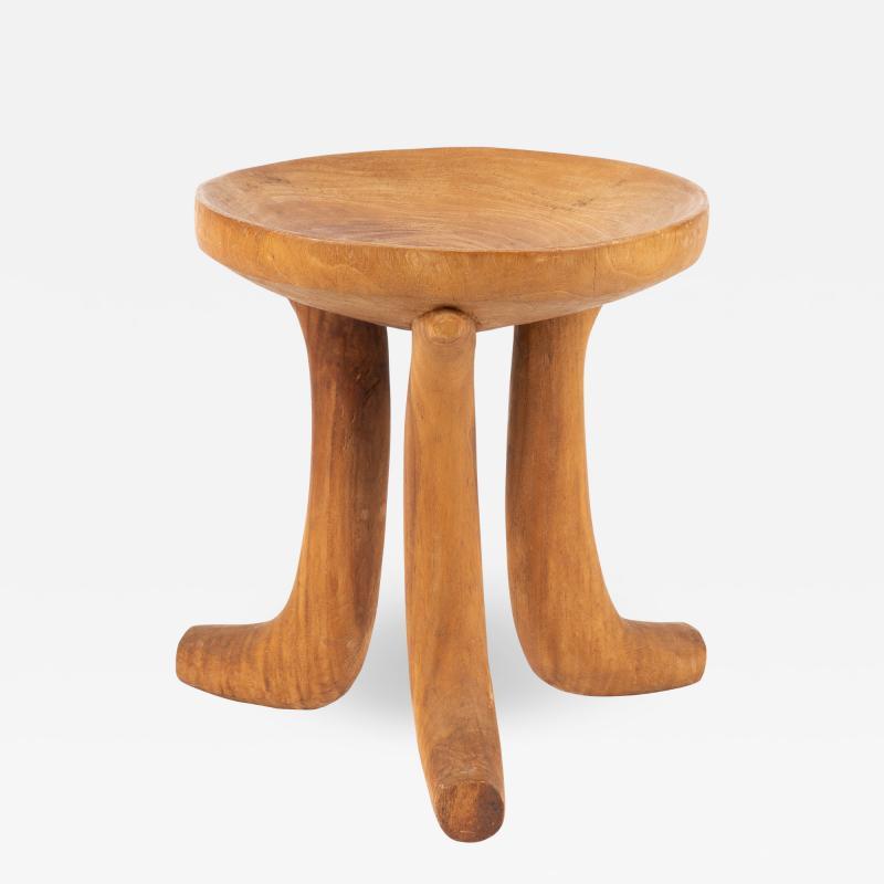 Carved hardwood Ethiopian jima stool