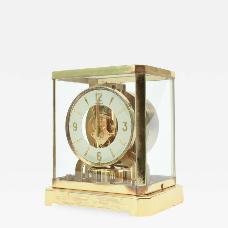 Case Glass Brass Jaeger Le Coultre Desk Clock