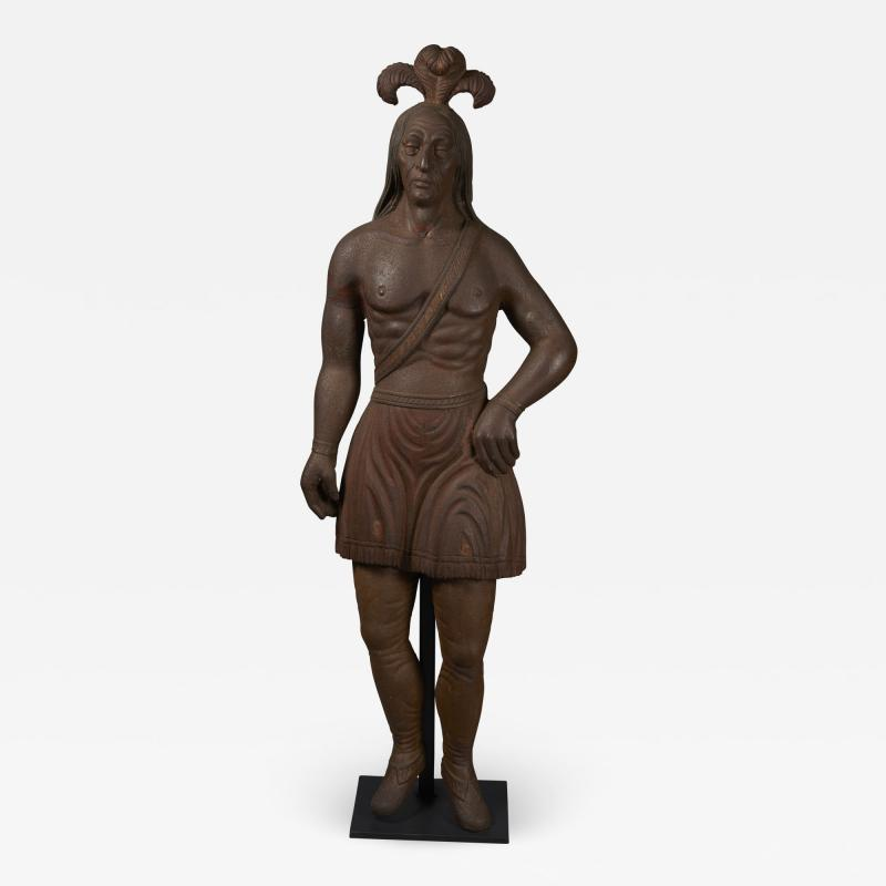 Cast Iron Figure of an Indian