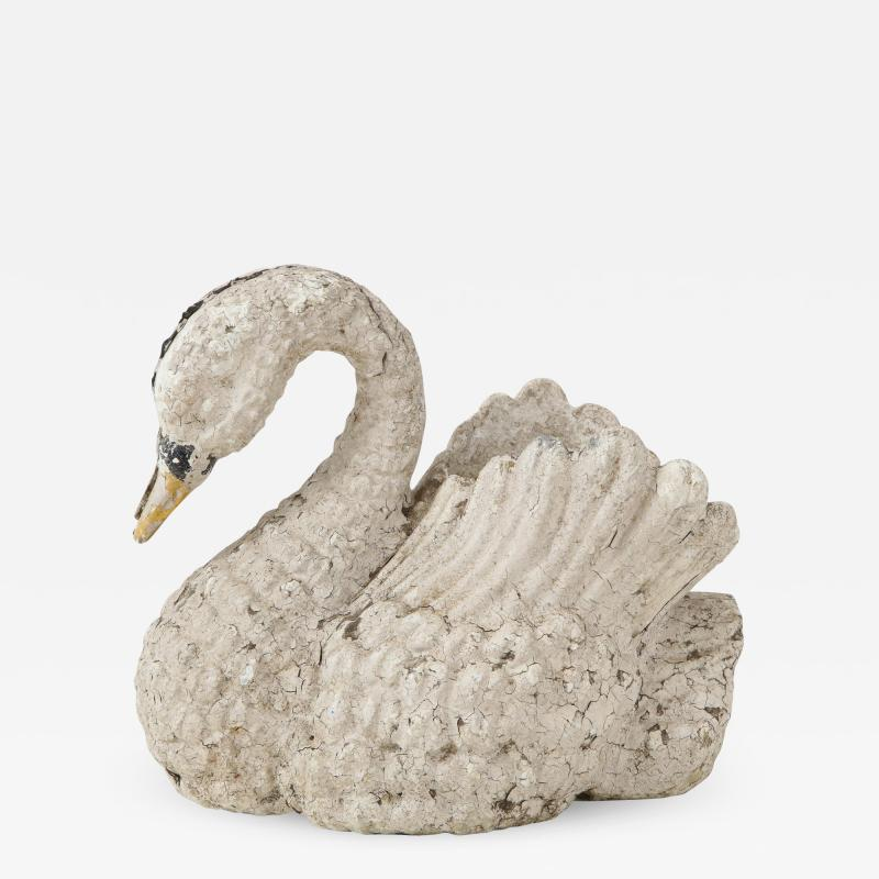 Cast Iron Painted Swan