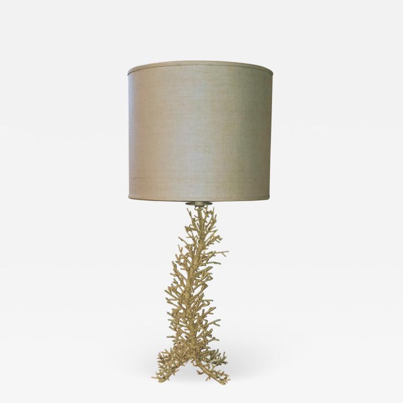Cast Porcupine Coral Table Lamp 1970s