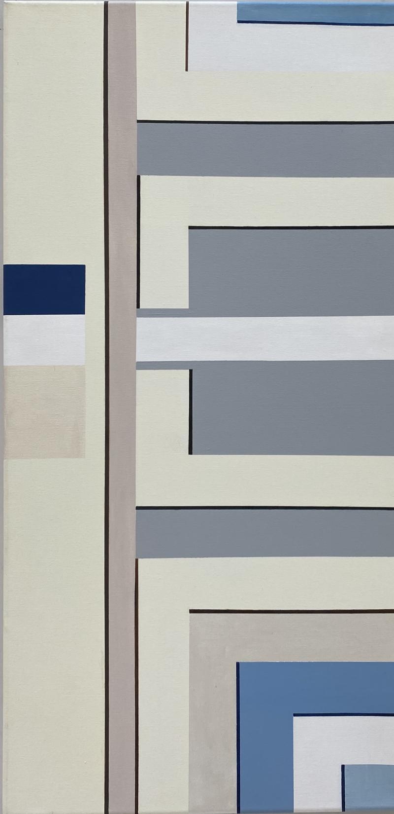 Cecilia Setterdahl White Maze Acrylic on Canvas