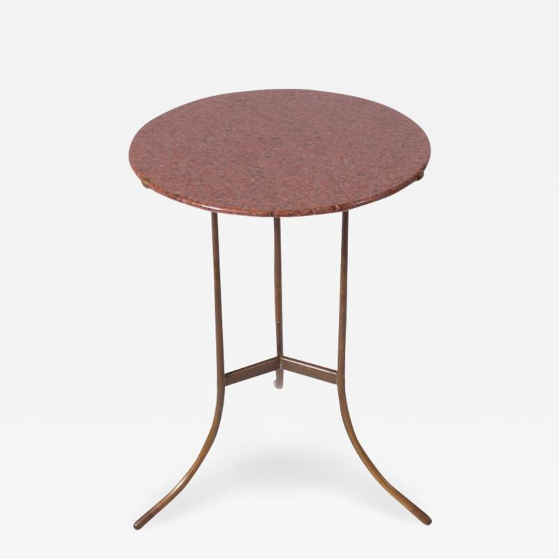 Cedric Hartman Classic side table from Cedric Hartman red granite top