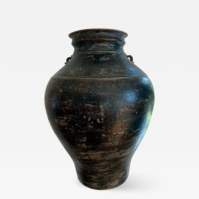 Ceramic Jar with Black Glaze Khmer Angkor Period