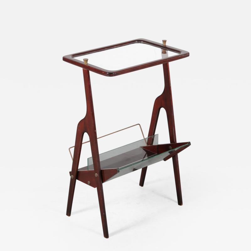 Cesare Lacca Luxurious Magazine Table by Cesare Lacca Italy 1950