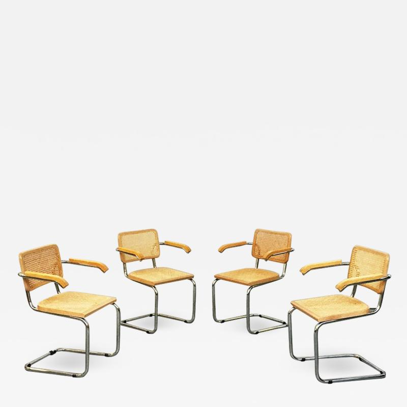 Chairs with armrests in Cesca Style 1970s