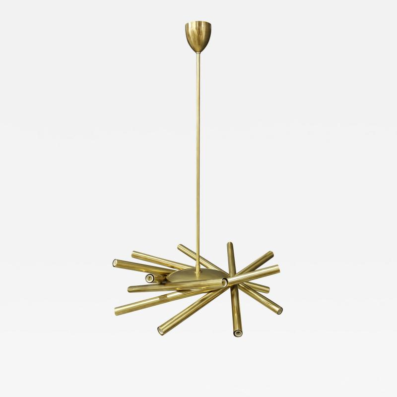 Chandelier in style Mid Century in Brass with spokes 2020s