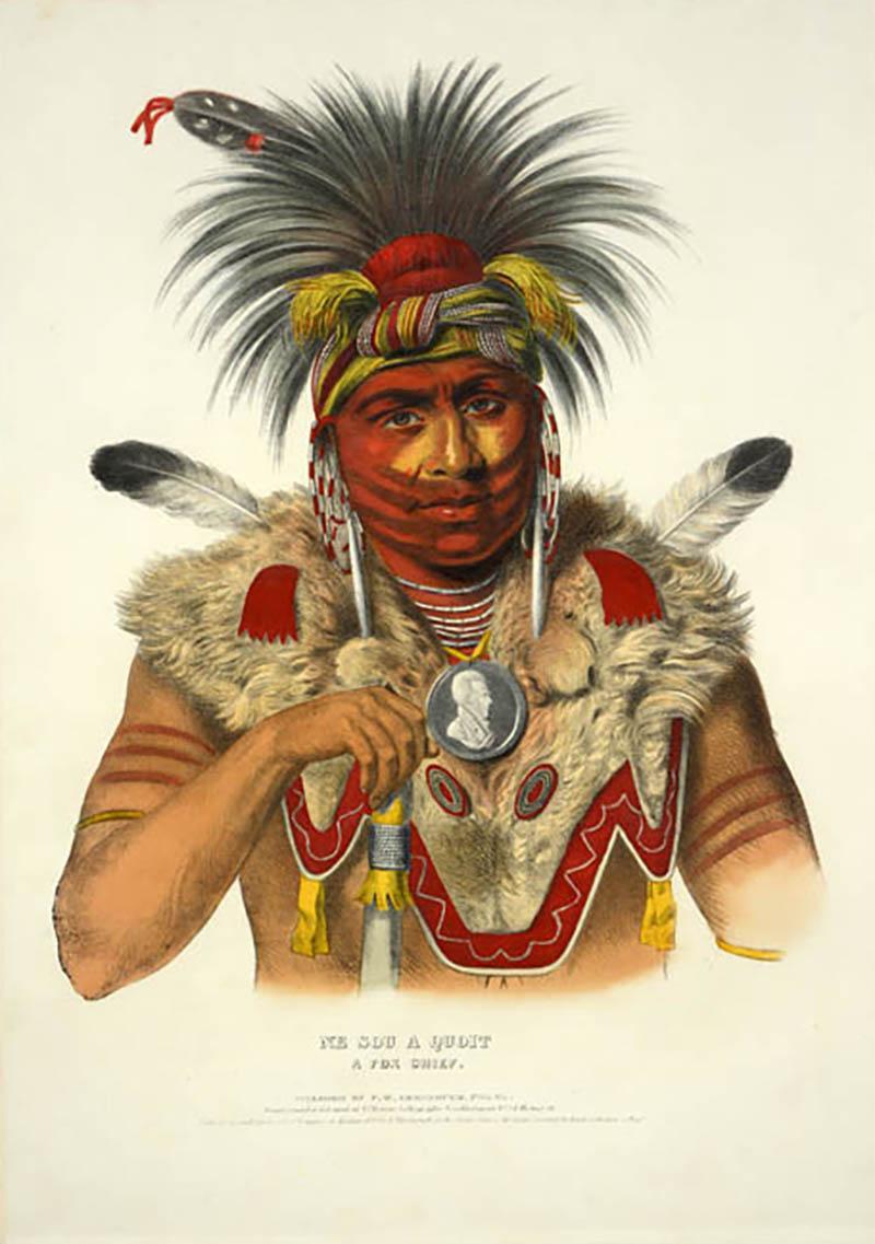 Charles Bird King Ne Sou A Quoit A Fox Chief