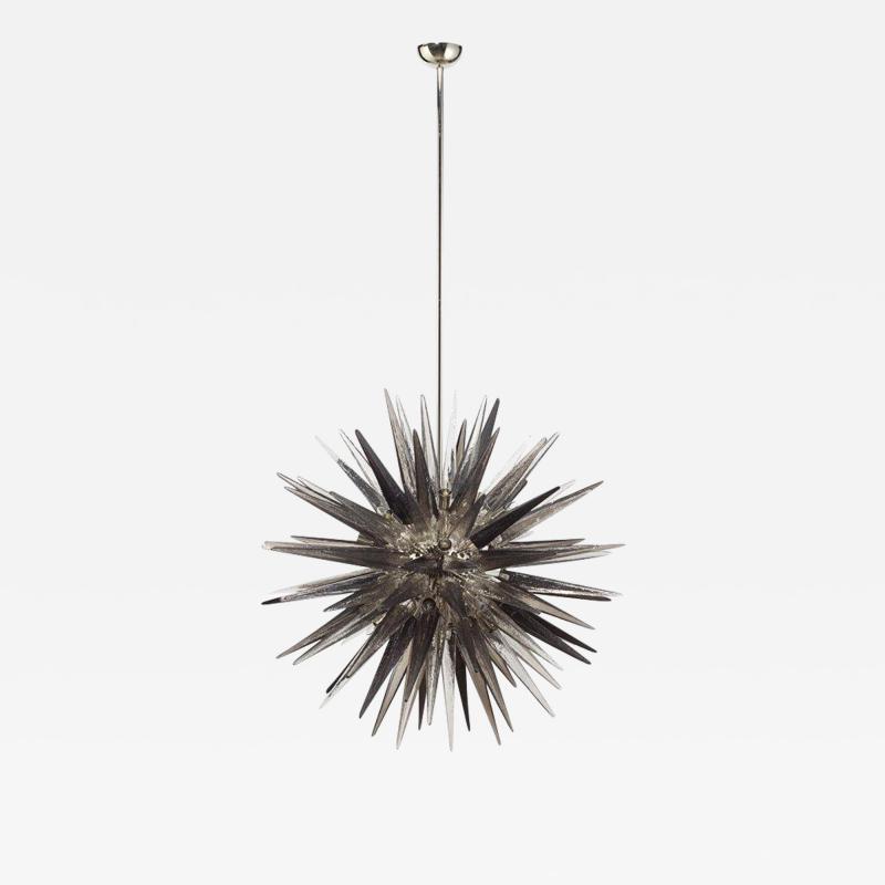 Charles Burnand Murano Glass Sputnik Shard Chandelier