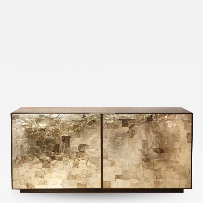 Charles Burnand Porchester Sideboard Smoked Eucalyptus Handcrafted Cabinet with Mica Inlay