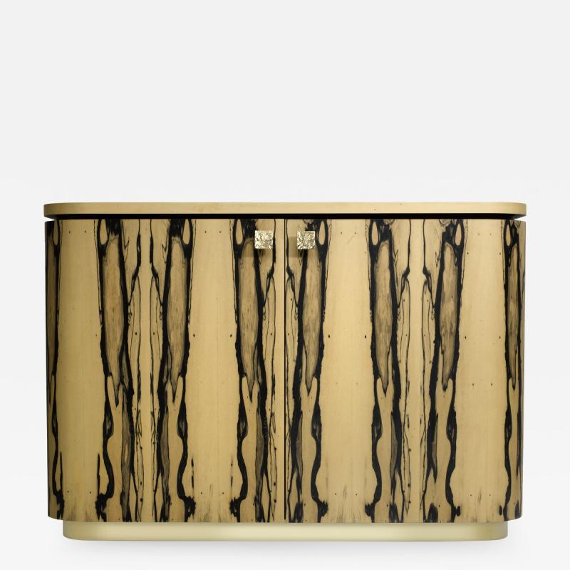 Charles Burnand Riccardo Sideboard in White Ebony Macassar Ebony and Brass