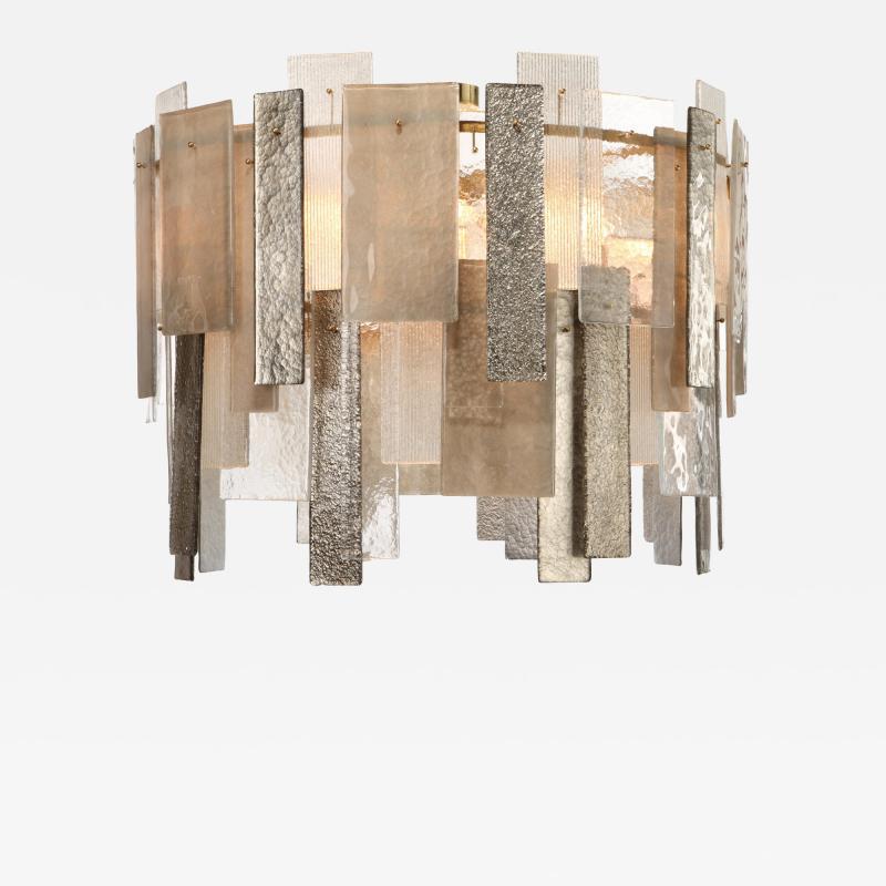 Charles Burnand Salina Murano Glass Chandelier