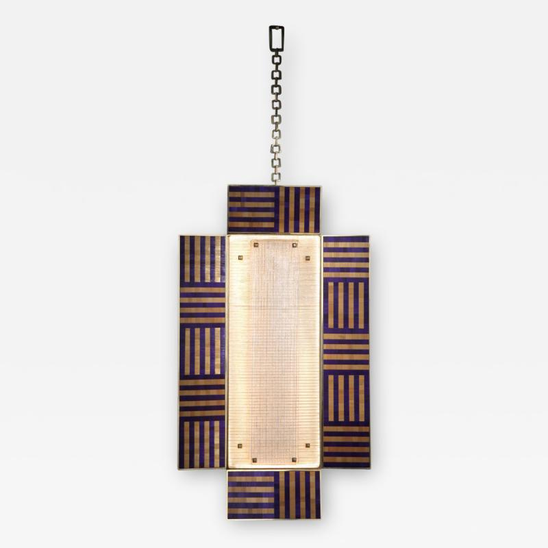 Charles Burnand Ultra Violet Wall Sconce Handcrafted from Murano Glass and Straw Marquetry