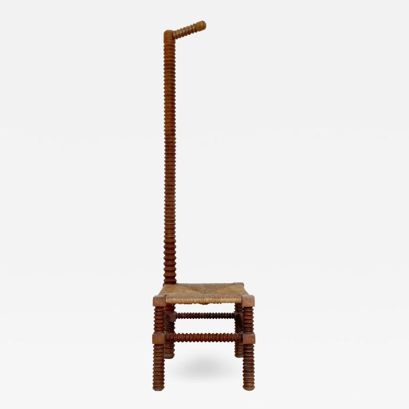 Charles Dudouyt CHARLES DUDOUYT SCULPTURAL FRENCH STOOL