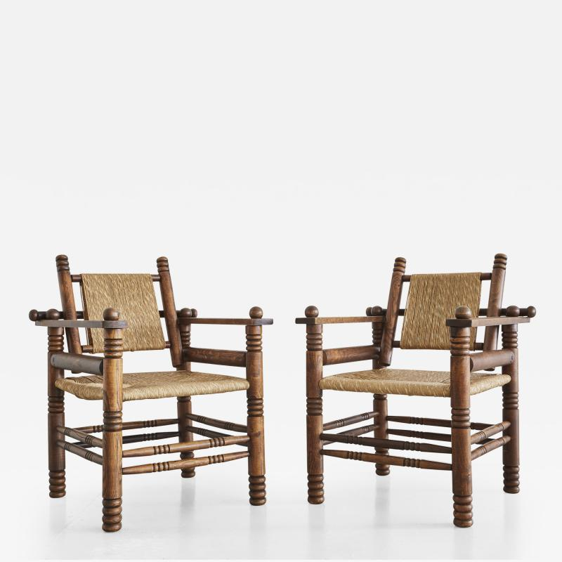 Charles Dudouyt Pair of Charles Dudouyt Chairs