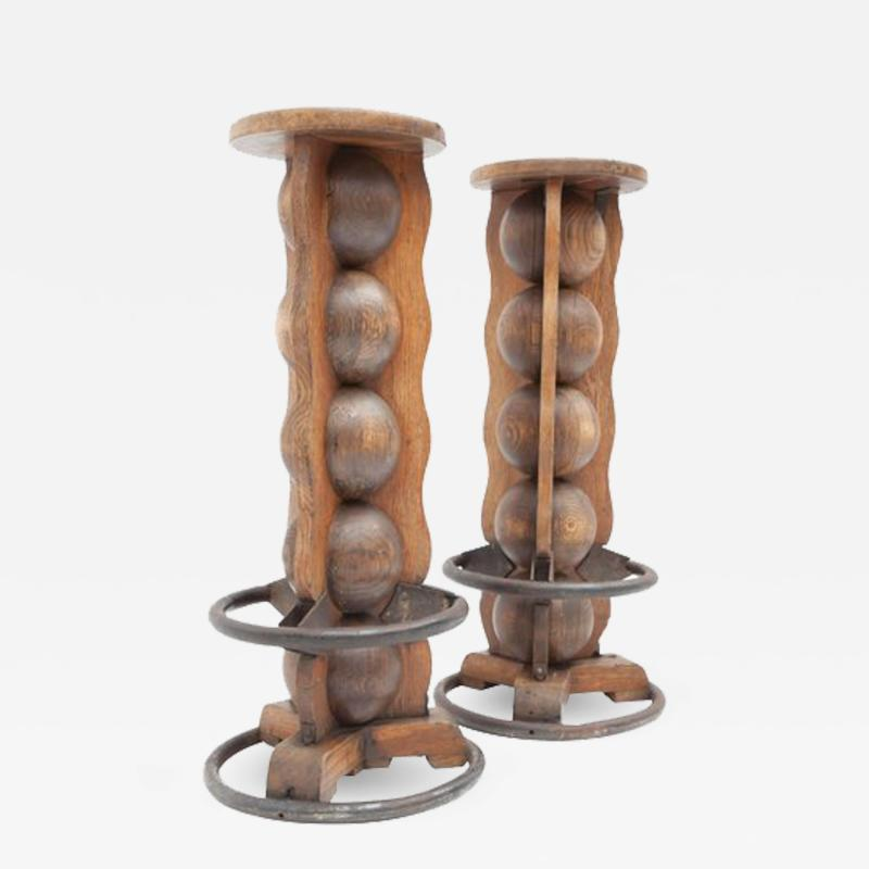 Charles Dudouyt Pair of Charles Dudouyt Stools