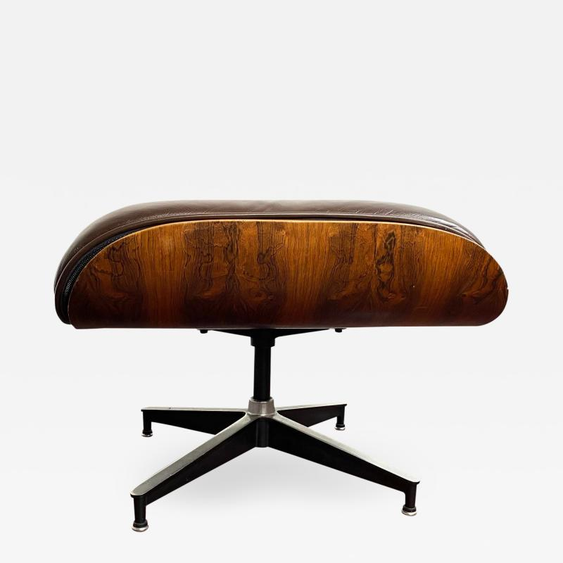 Charles Eames 1970s Brown Leather Eames Ottoman 671