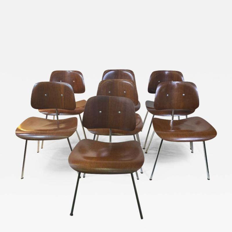Charles Eames SUITE OF MID CENTURY SEVEN CHARLES EAMES DINING CHAIRS FOR HERMAN MILLER