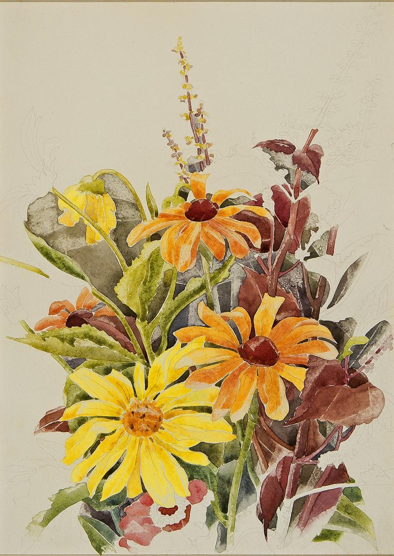 Charles Henry Demuth Garden Flowers