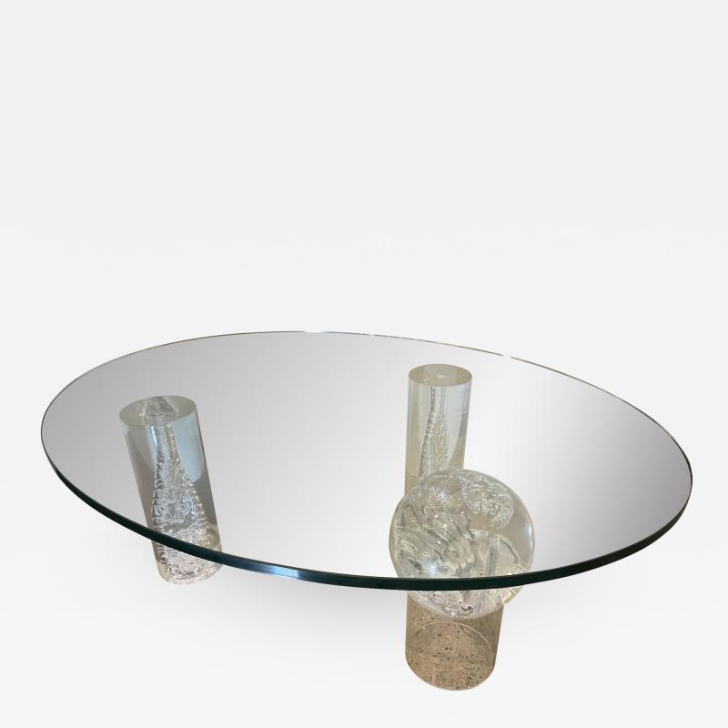 Charles Hollis Jones American Modern Lucite and Glass Coffee Table Charles Hollis Jones