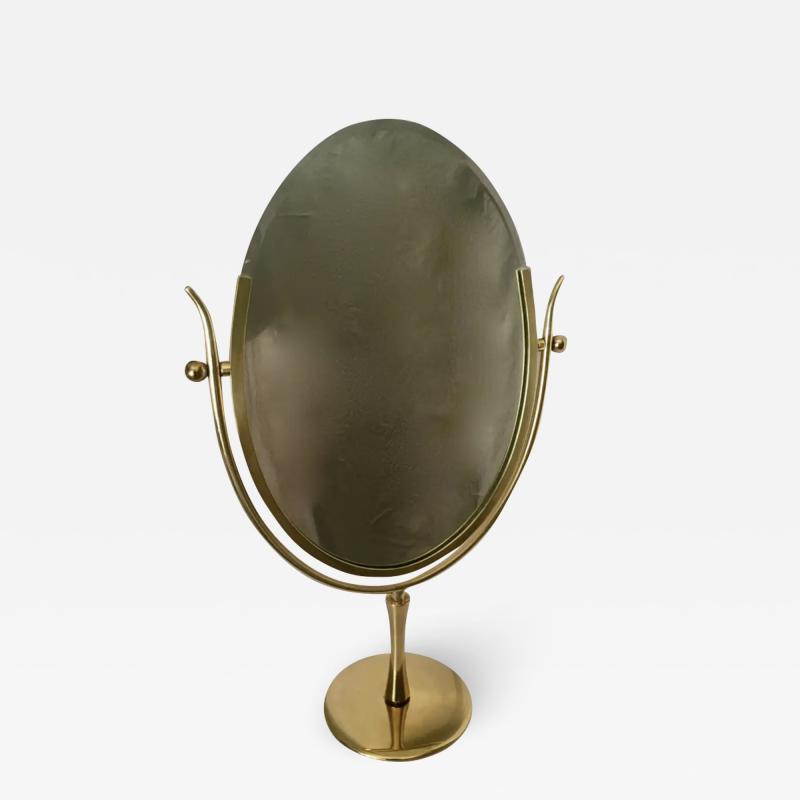 Charles Hollis Jones Charles Hollis Jones Brass Wishbone Vanity Mirror