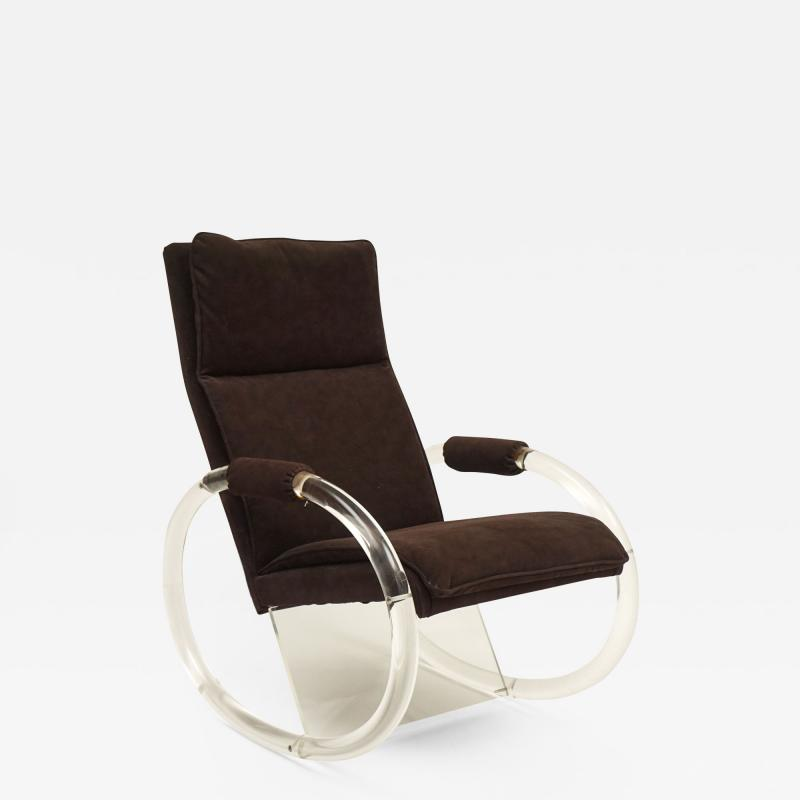Charles Hollis Jones Charles Hollis Jones Lucite Rocking Chair