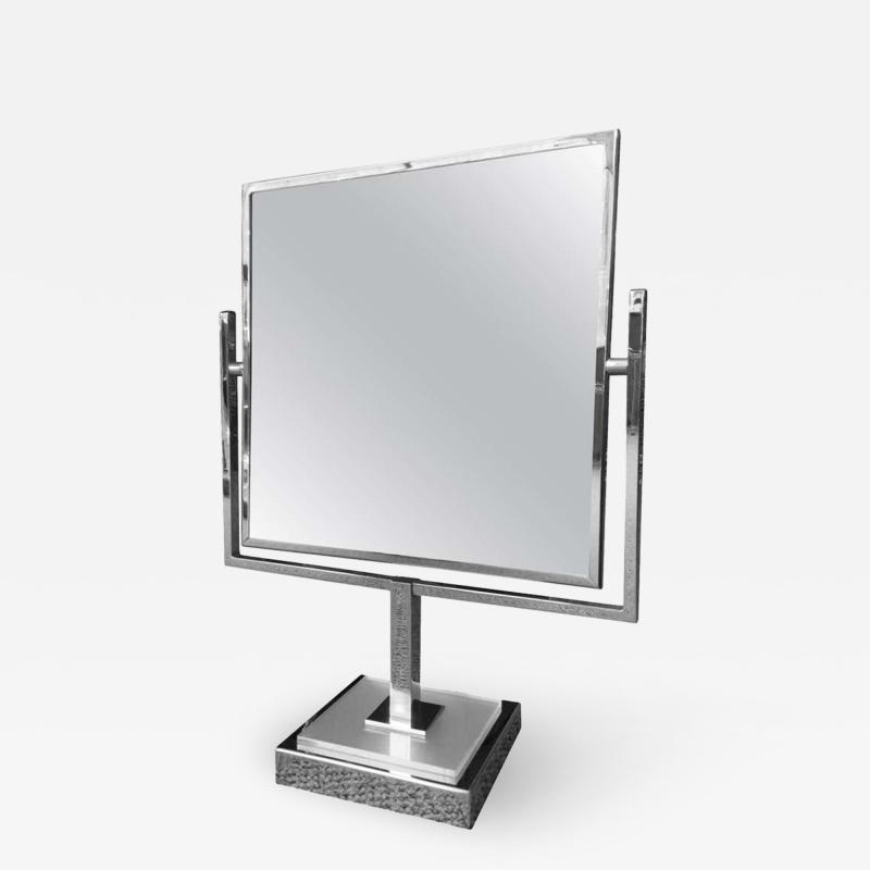 Charles Hollis Jones Charles Hollis Jones Vanity Mirror in Polished Chrome and Lucite