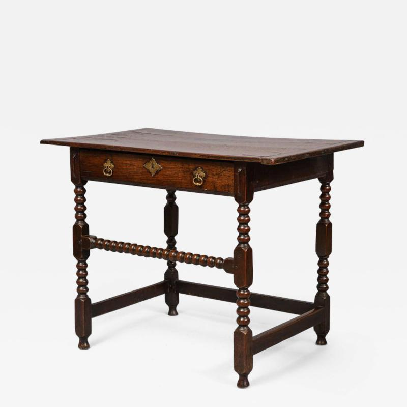Charles II Period Oak Side Table