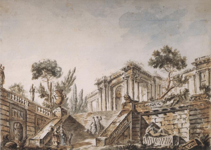 Charles Louis Clerisseau View of Classical Buildings