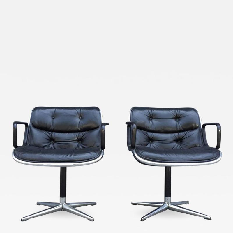Charles Pollock Pair of Early Charles Pollock for Knoll Accent Chairs